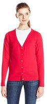 Dockers Women's V-Neck Cardigan Sweater