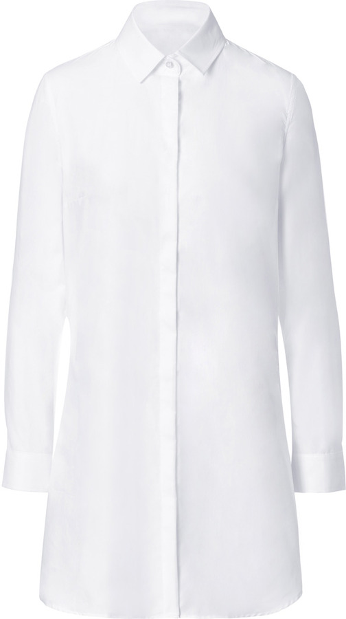 J.W.Anderson Cotton Long Sleeve Shirtdress in White