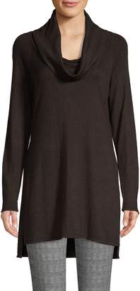 Halston H Raglan-Sleeve High-Low Tunic