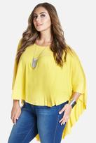 Fashion to Figure Sedona High-Low Poncho Top
