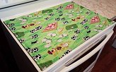 Farm Animals Themed Glass Stove Top / Cook Top Cover & Protector (Sage Green)