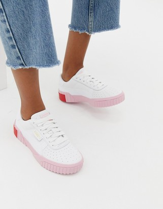 Puma Cali white and pink trainers