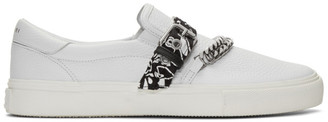 Amiri White Bandana Buckle Slip-On Sneakers