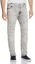 True Religion Rocco Moto Slim Fit Jeans in Light Rail