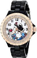EWatchFactory Disney Women's W001000 Snow White Black Enamel Watch