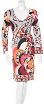 Emilio Pucci Psychedelic Print Knee-Length Dress