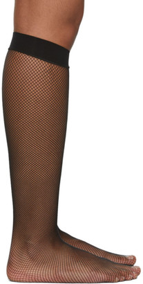 Wolford Black Twenties Knee-High Socks