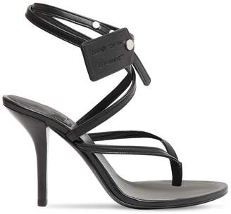 Off-White Off White 100MM ZIP TIE LEATHER THONG SANDALS