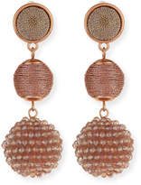 Lydell NYC Beaded Ball Drop Earrings
