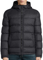Claiborne Wool Look Puffer With Hood