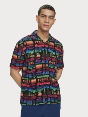 Scotch & Soda Printed Viscose Shirt | Men
