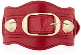 Balenciaga Classic Buckle Leather Bangle Bracelet