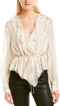 IRO Treasure Sheer Silk-Blend Blouse