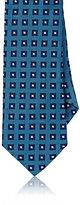 Barneys New York Men's Neat-Squares Silk Jacquard Necktie-BLUE