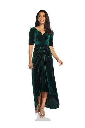 Adrianna Papell Covered Velvet Gown