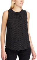 Chaps Women's Weekday Ready Pleated Sleeveless Top