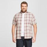 Mossimo Men's Big & Tall Short Sleeve Button Down Shirt White