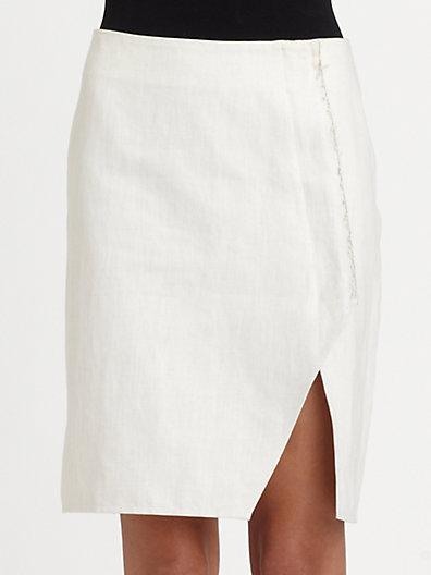 Rogan Raw-Edge Skirt