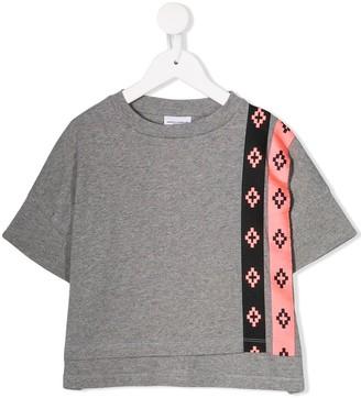 Marcelo Burlon County Of Milan Kids logo stripe T-shirt