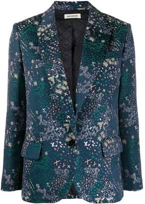 Zadig & Voltaire Zadig&Voltaire Viking Jac star embroidered blazer