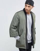 Asos Kimono Bomber Jacket In Khaki