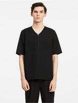 Calvin Klein Platinum Refined Cotton Zip Shirt