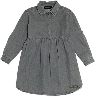 Finger In The Nose Cotton Chambray Dress