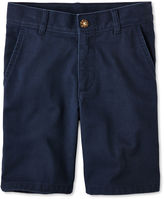 Izod Flat Front Twill Shorts - Boys Preschool Boys 4-7 Regular and Slim