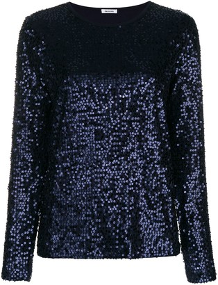 P.A.R.O.S.H. Sequined Long Sleeve Top