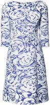 Oscar de la Renta floral pattern dress - women - Silk/Cotton/Polyester/Nylon - 6