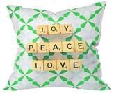 "Deny Designs Driftwood Joy Peace Love Throw Pillow (20""x20"