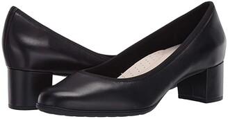 Aravon Career Dress Pump (Black Leather) Women's Shoes