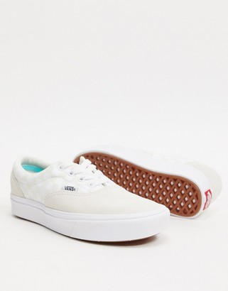 Vans classic authentic checkerboard trainers-White