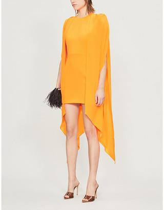 Alex Perry Tucker cape-sleeves crepe mini dress