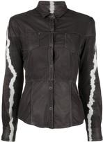 Giorgio Brato tie-dye leather shirt