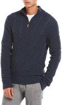 Qi Quarter-Zip Wool-Blend Sweater