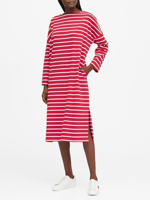 Banana Republic JAPAN EXCLUSIVE Boat-Neck T-Shirt Dress