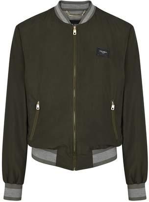 Dolce & Gabbana Dark Olive Shell Bomber Jacket