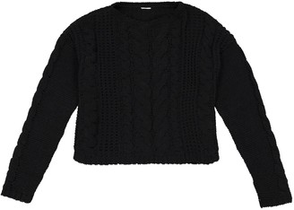 La Redoute Collections Chenille Cable Knit Jumper, 10-16 Years