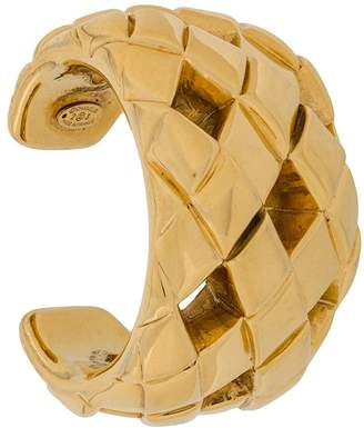 Chanel Pre Owned 1990s Cut-Out Chunky Cuff