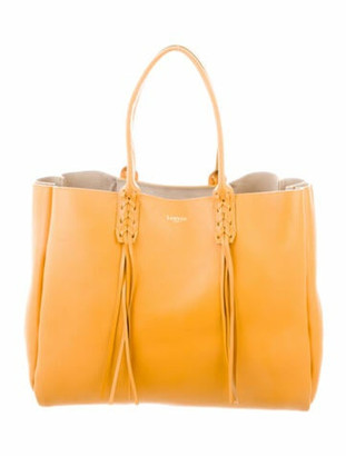 Lanvin Leather Tote Yellow