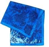Vivienne Westwood Man Handkerchief, Blue Navy Floral Print Hanky