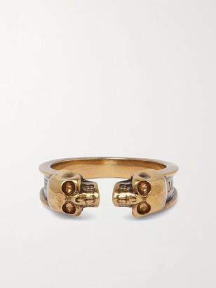 Alexander McQueen Skull Gold-Tone Ring