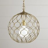 "Crate & Barrel Hoyne 15"" Brass Pendant"