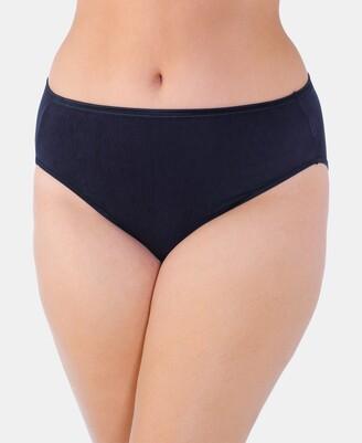 Vanity Fair Women's Illumination Plus Size High-Cut Satin-Trim Brief Underwear 13810