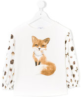MonnaLisa fox print shirt