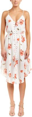 Haute Hippie Lace-Up A-Line Dress