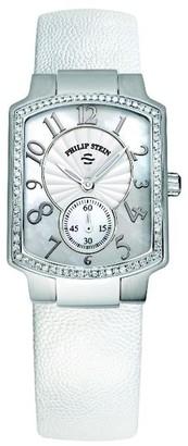 Philip Stein Teslar 21D-FMOP-CPW Ladies WatchAnalogue QuartzWhite DialLeather Strap