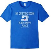 Men's My Quilting Room Is My Happy Place T-shirt Quilt Gift Tee Medium