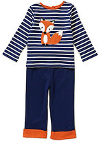 Starting Out Baby Boys 12-24 Months Fox-Applique Striped Top & Pull-On Pants Set
